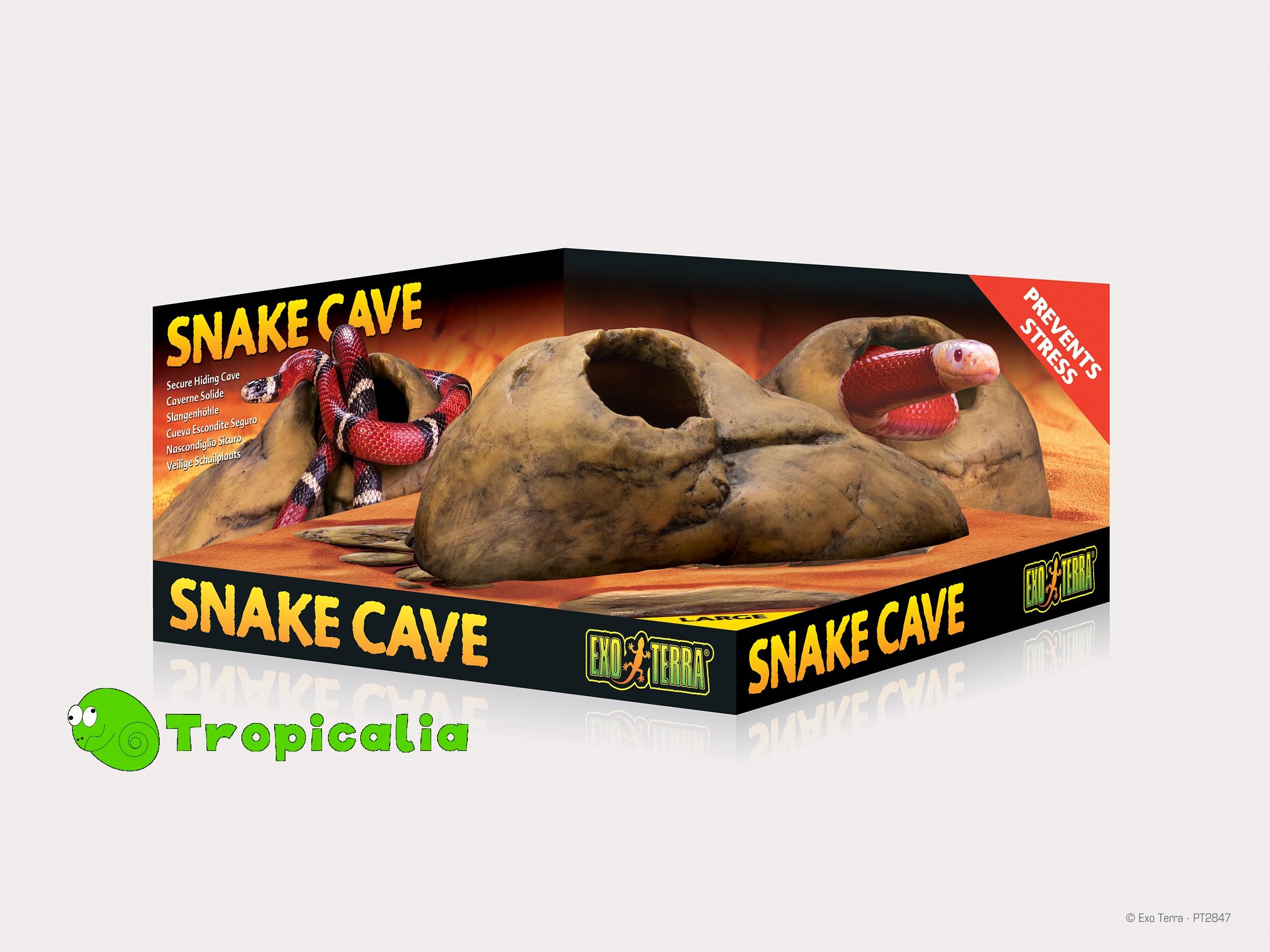 Exoterra snake cave tana per rettili tropicalia shop